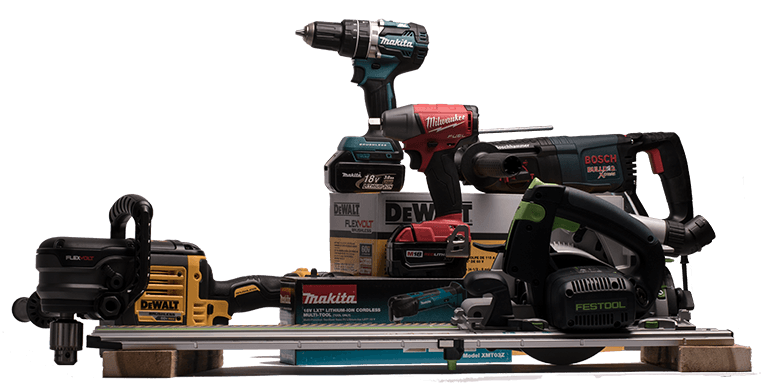 Milwaukee, Bosch, DeWalt, Makita, Festool among brands carried in PaulB Hardware's Power Tool department