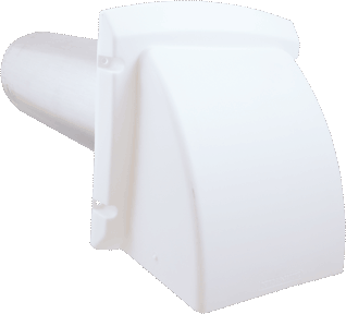 Dryer Vent Hood with Guard, White