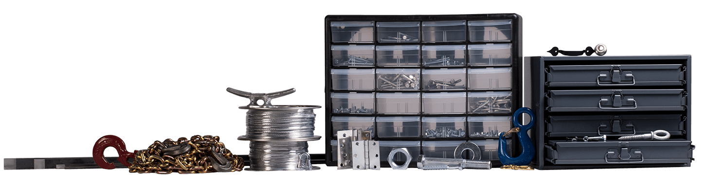Fasteners, hardware, and storage available at PaulB Hardware