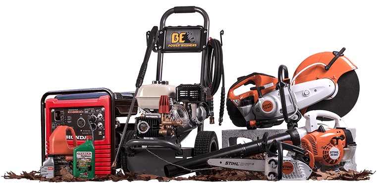 Brands like Yamaha, Stihl, Echo, in generators, pressure washers, blowers, trimmers, and chain saws at PaulB Hardware