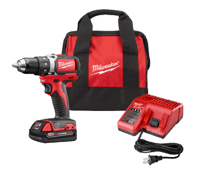 Milwaukee M18 Brushless Compact Drill Driver Kit
