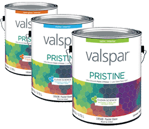 All Valspar Pristine Gallons