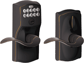 Schlage Entry Keypad Leverset <br />3 Color Choices