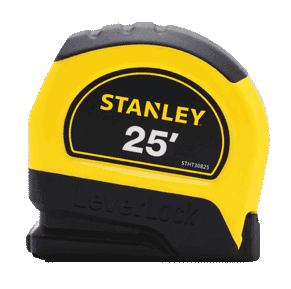 Stanley Leverlock Tape Measure 25′