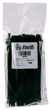 Black Cable Ties, 8&#8243; <br />100pk