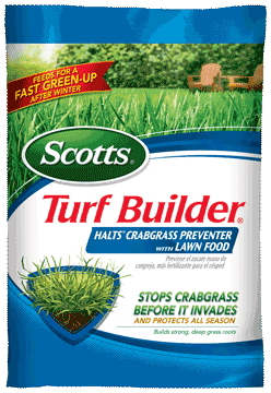 Turf Builder with Crab Grass Preventer &#038; Food<br /> Covers 5,000sq ft