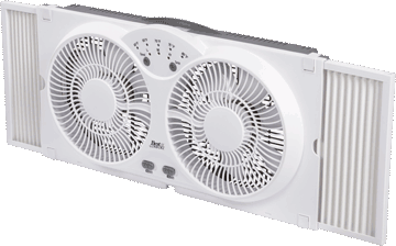 9″ Twin Window Fan