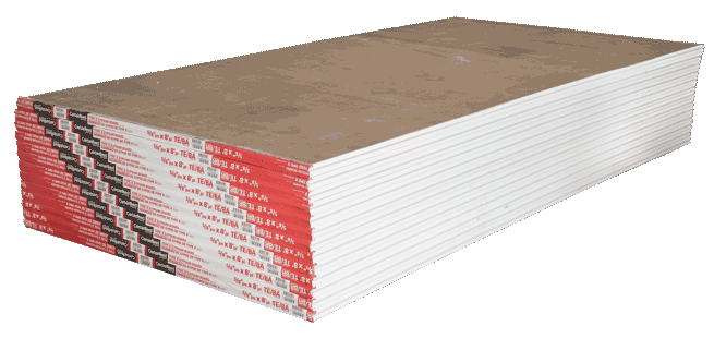 Stack of 4x9 drywall, sheetrock