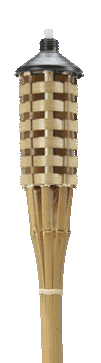 60″ Tiki Torch<br />Natural Bamboo
