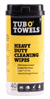 Tub-O-Towels Multi-Purpose Heavy-Duty Cleaning Wipes 40ct