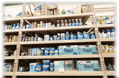 Cleaning Supplies Shelving